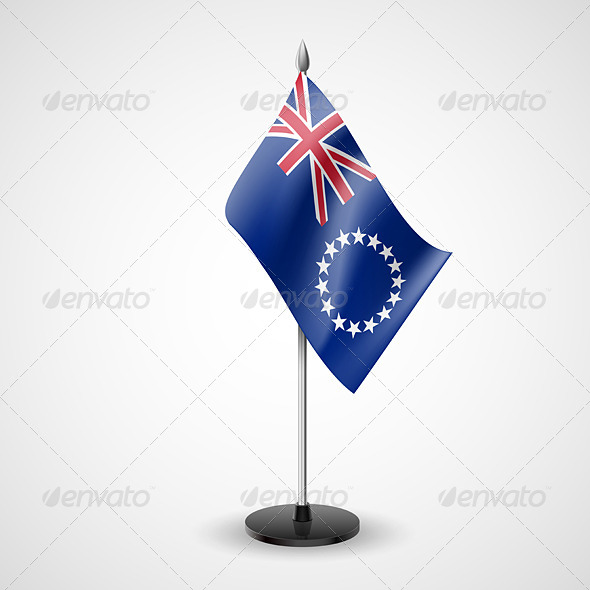 GraphicRiver Table Flag of Cook Islands 7460338