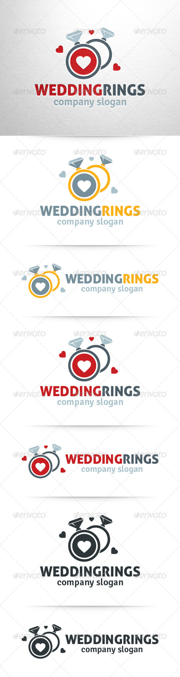 GraphicRiver Wedding Rings Logo Template 7460500