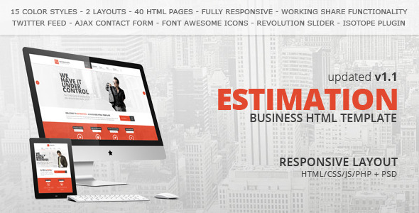 Estimation - Responsive Business HTML Template by HedgehogCreative