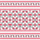 Ukrainian Slavic Folk Knitted Red Emboidery Print - GraphicRiver Item for Sale