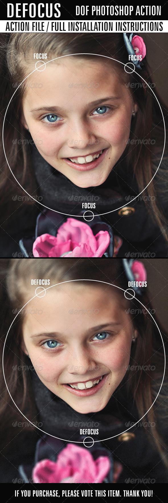 GraphicRiver Defocus Photo Action 7462125
