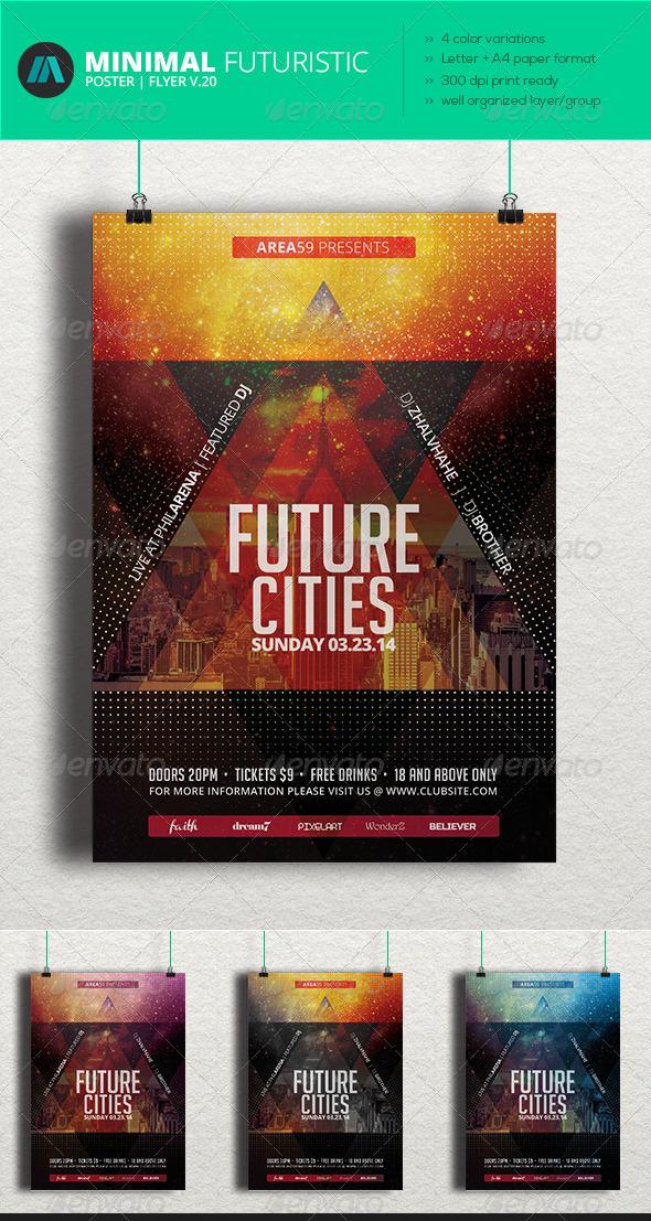 GraphicRiver Minimal Futuristic Poster Flyer V.20 7462341