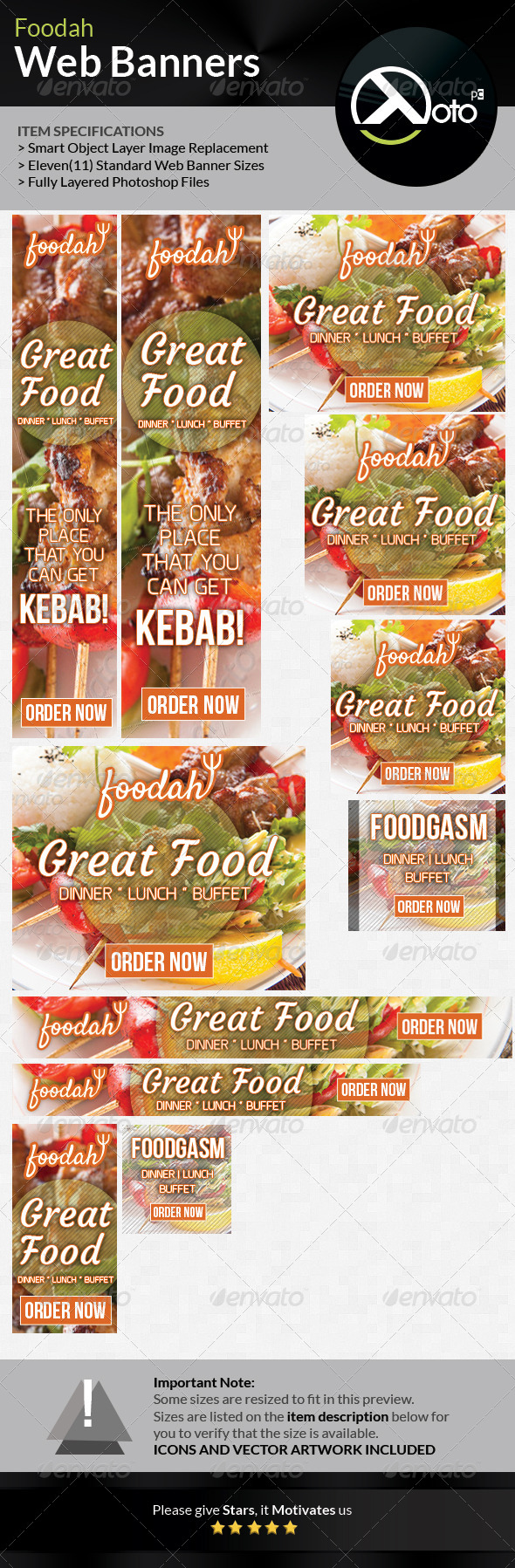 GraphicRiver Foodah Online Restaurant Web Banners 7462683