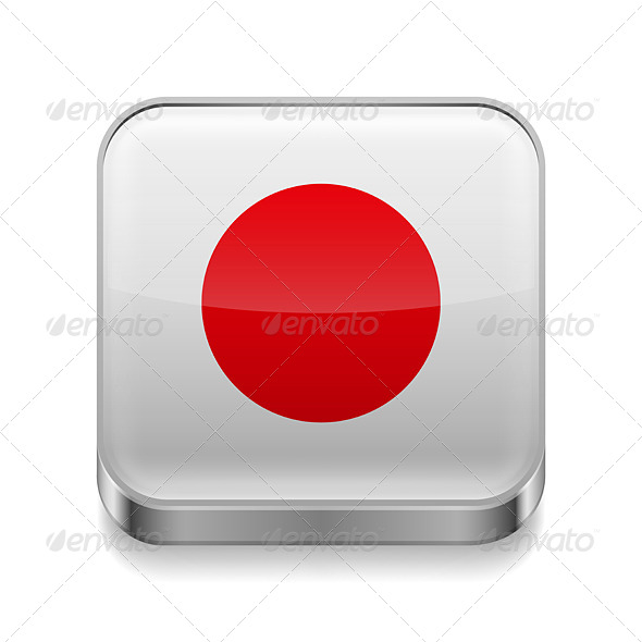 GraphicRiver Metal Icon of Japan 7463578