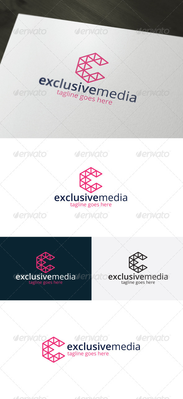 GraphicRiver Exclusive Media Logo Letter E 7463970