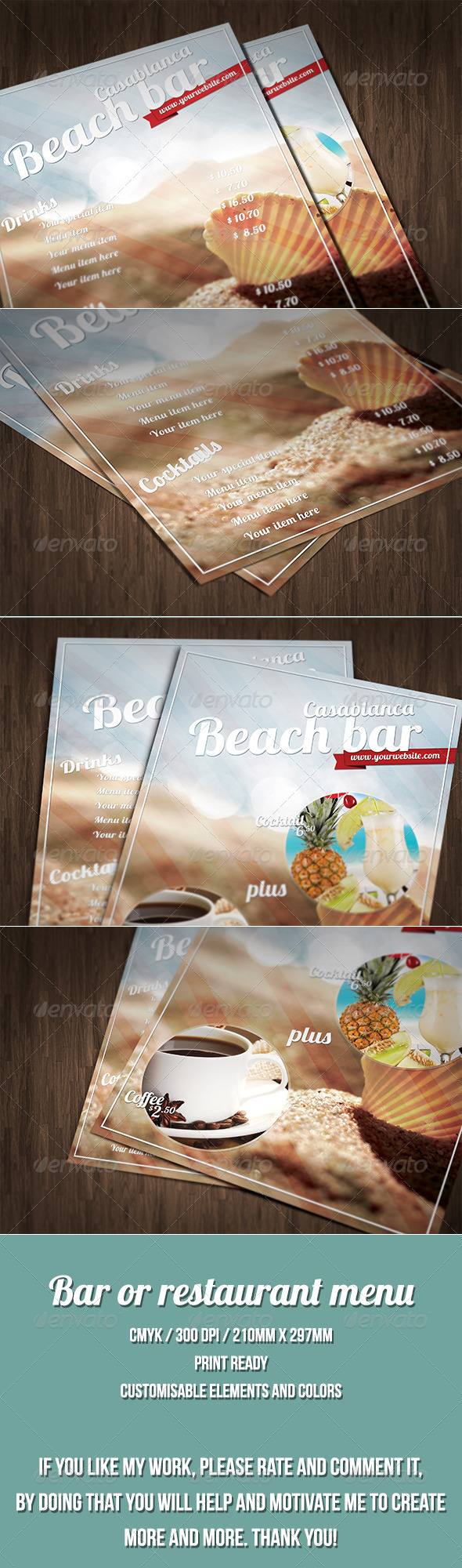 GraphicRiver Summer Style Menu Template 7462161