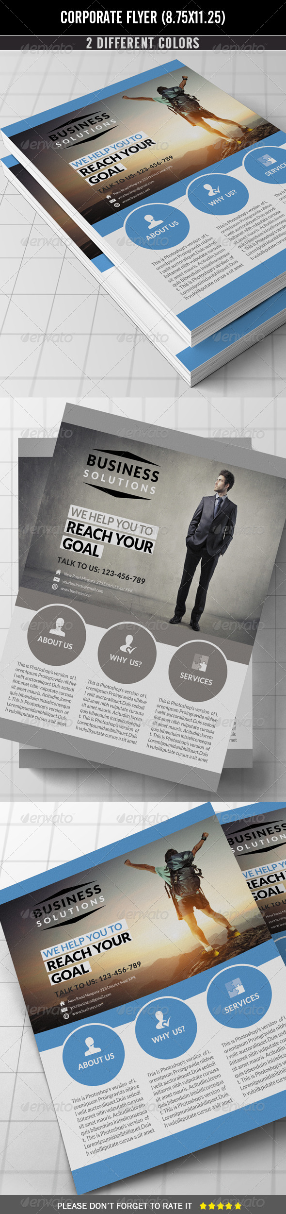 GraphicRiver Corporate Flyer 7464225