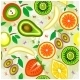 Juicy Fruits Seamless Pattern - GraphicRiver Item for Sale