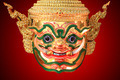 Hua Khon (Ancient Thai Show Mask) use in Khon Thai classical sty - PhotoDune Item for Sale