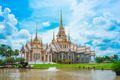 Thai temple landmark in Nakhon Ratchasima or Korat, Thailand - PhotoDune Item for Sale