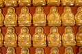 Many Buddha statue on the wall in Chinese temple - PhotoDune Item for Sale