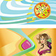 Templates for Visit Cards: Pizza, Beer, Wine - GraphicRiver Item for Sale