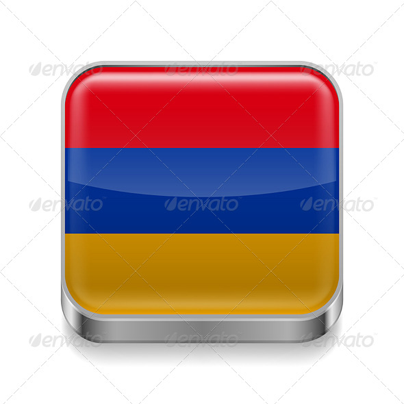 GraphicRiver Metal Icon of Armenia 7465191
