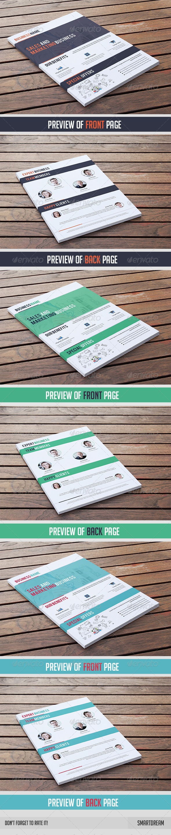 GraphicRiver Business Flyer Template 2 Pages 7465933