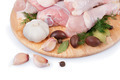 Raw Chicken Legs with Olives and Garlic - PhotoDune Item for Sale