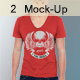 Professional V T-Shirt Men Mock-Up - GraphicRiver Item for Sale