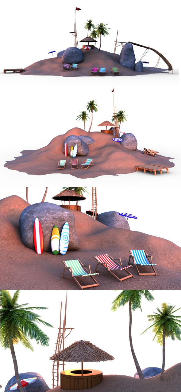 3DOcean Beach 7467477