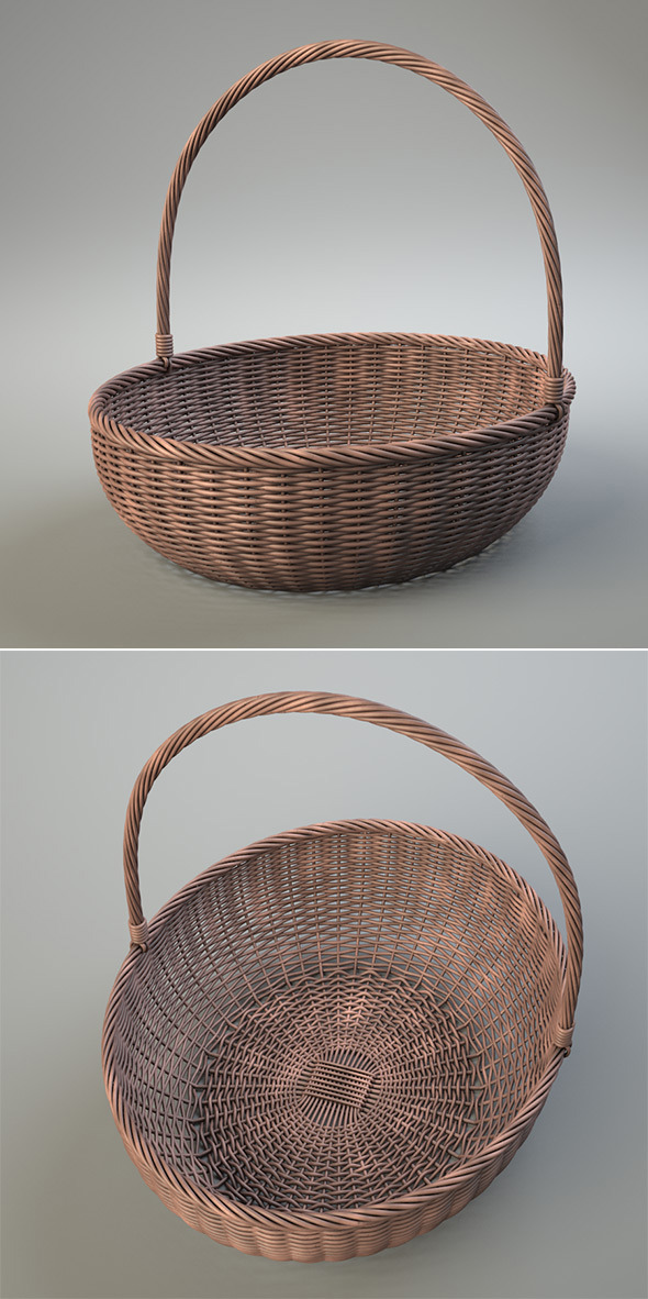 3DOcean Wicker Basket 7467967