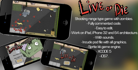 CodeCanyon Shooting Range Game Live Or Die 7467974