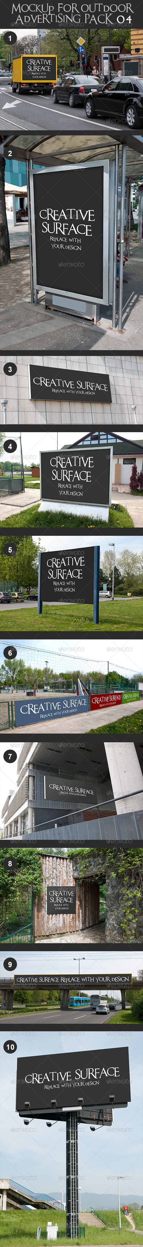 GraphicRiver 10 Mock Up s for Outdoor Advertising Pack 4 7472853