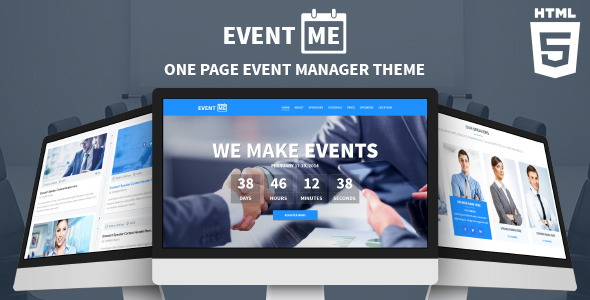 ThemeForest EventMe Responsive Event Landing Page 7437582