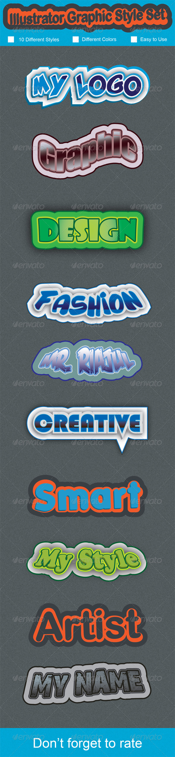 GraphicRiver Graphic Style Set 7472876