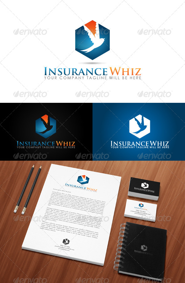 GraphicRiver Insurance Whiz Logo 7474913