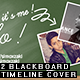 2 Blackboard timeline cover - GraphicRiver Item for Sale