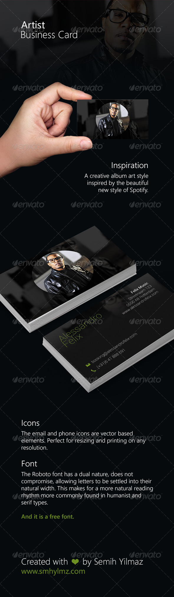 GraphicRiver Artist Business Card 7475042