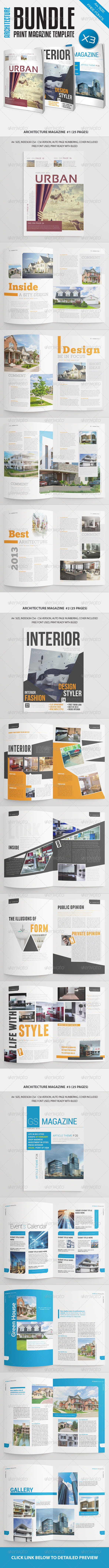 GraphicRiver Architecture Magazine Bundle Vol2 7478094