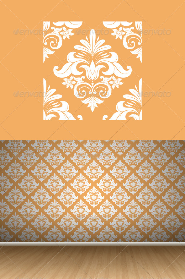 GraphicRiver Orange Swirl Pattern 7417510