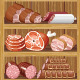 Shelfs with Meat Products - GraphicRiver Item for Sale