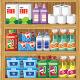 Shelves with Household Chemicals - GraphicRiver Item for Sale