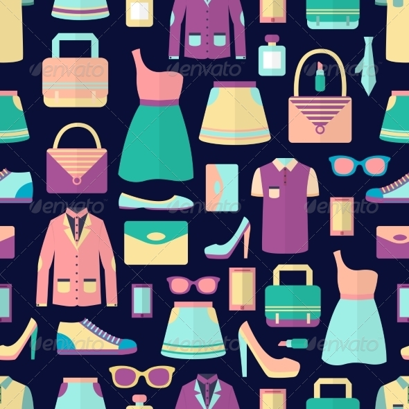 GraphicRiver Shopping Seamless Pattern 7480157