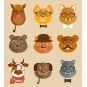 Animal Hipsters Icons - GraphicRiver Item for Sale