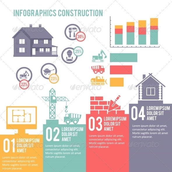 GraphicRiver Construction Infographic Set 7480216