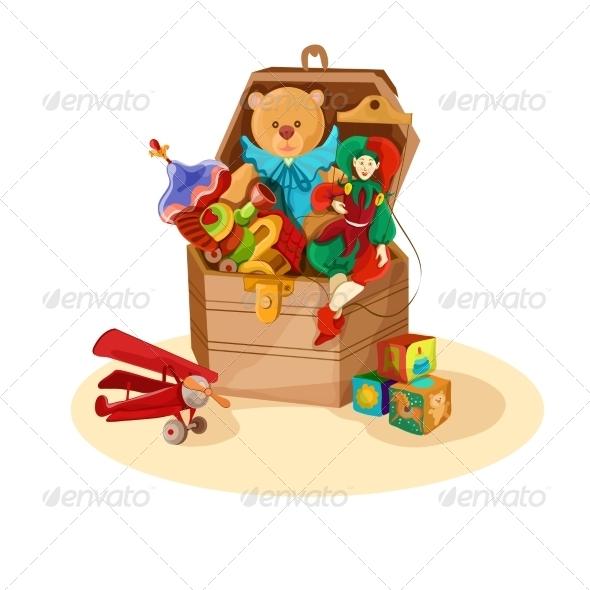 GraphicRiver Box with Retro Toys 7480240