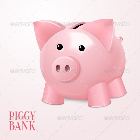 GraphicRiver Piggy Bank Poster 7480257