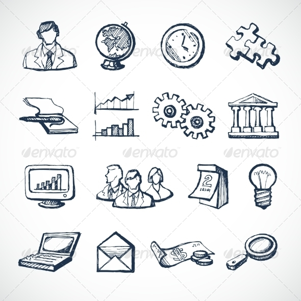GraphicRiver Infographic Sketch Icons 7480264