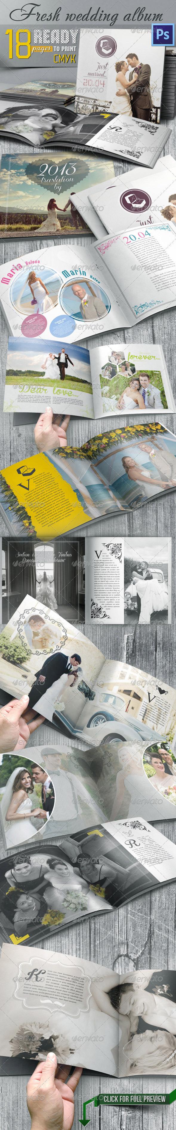 GraphicRiver Fresh Wedding Photo Album For Photoshop 7480285
