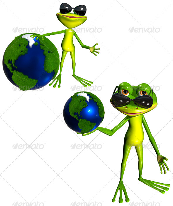 GraphicRiver Frog and Globe 7480481