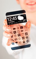 Smartphone with transparent screen in human hands. - PhotoDune Item for Sale