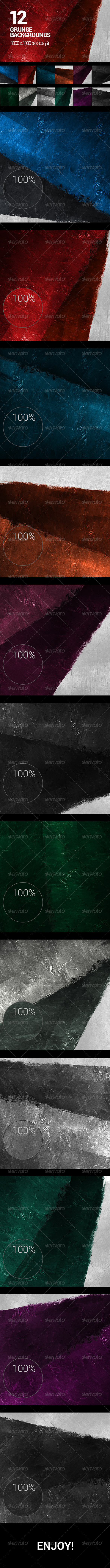 GraphicRiver 12 Painted Urban Grunge Backgrounds Vol.2 7480846