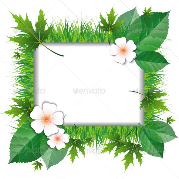 GraphicRiver Frame of Grass and Leaves 7481724