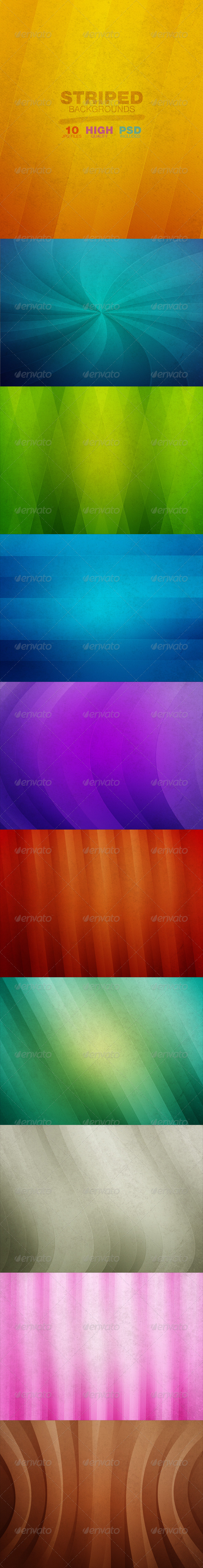 GraphicRiver Striped Backgrounds 7482596
