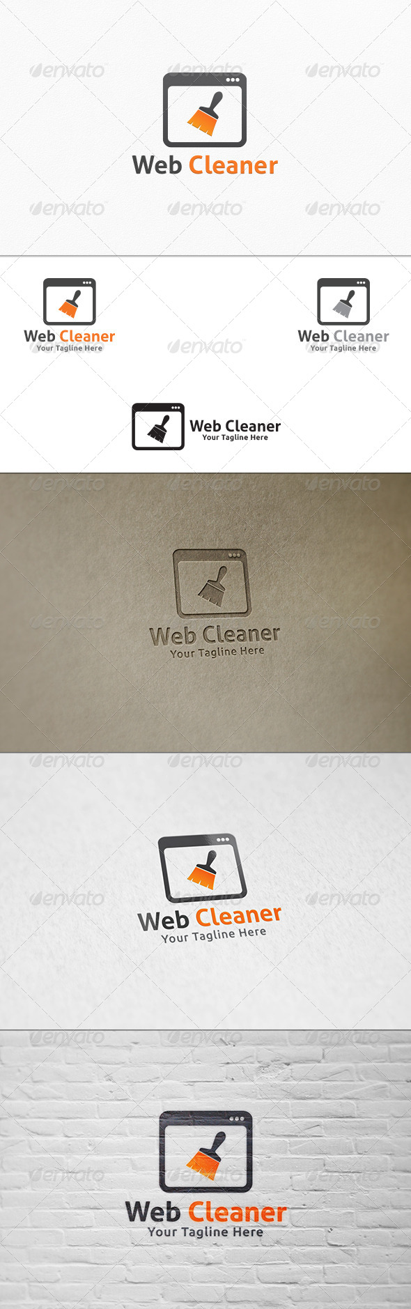 GraphicRiver Web Cleaner Logo Template 7483959