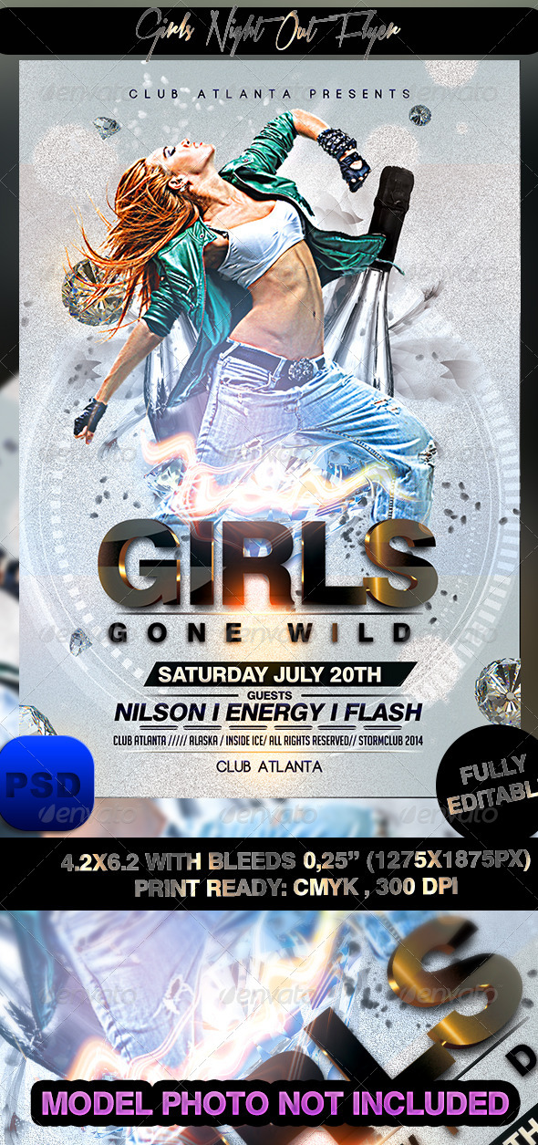 GraphicRiver Girls Night Out Flyer 7483978