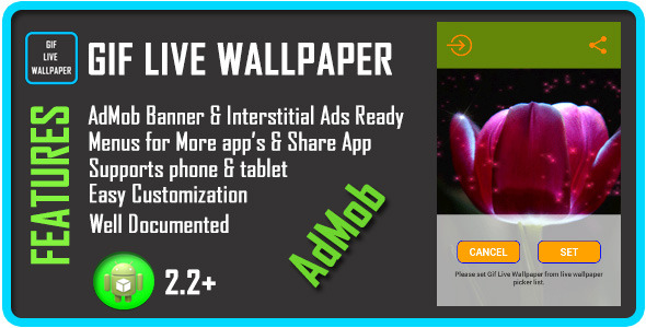 CodeCanyon GIF Live Wallpaper with AdMob 7484063