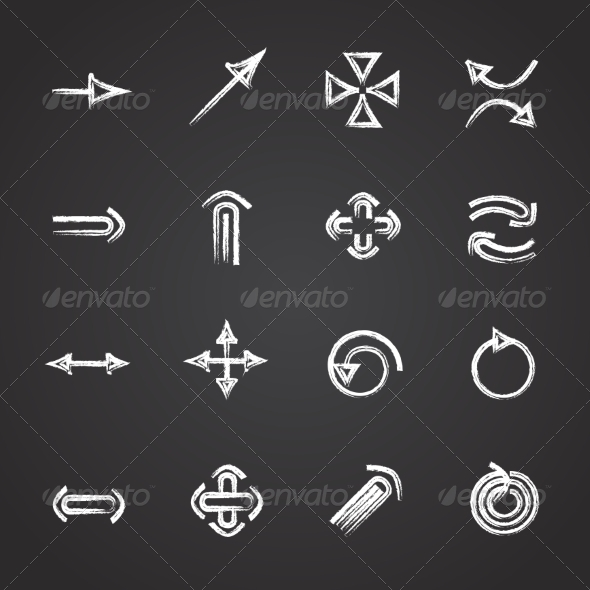 GraphicRiver Set of Chalk Arrows 7484138
