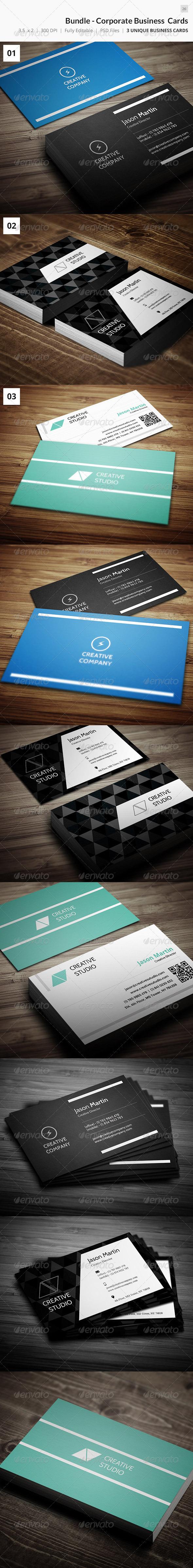 GraphicRiver Bundle Corporate Business Cards 26 7484491